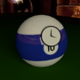 A Lone Billiard Ball by MelloYelloClock