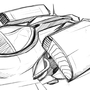 Spaceship design sketch by polhudo