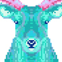 teal stag for the ladies by Exzyle