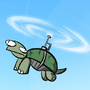 flying turtle by WaxTerK