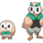 Rowlet Evolution by DrApfelwurst