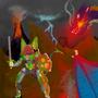 EXCATIBUR MECH Vs. THE DRAGON by KingArtiethe1st