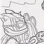 Dragons vs Kittens COTM Work in Progress by ScrawlRico