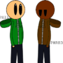 Phil Eggtree and Phred Whistler (Original Characters by JonBro) by thesoniclover12