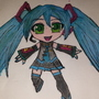 Miku Hatsune chibi fanart by shadowwolf101