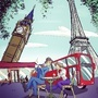 When paris met london- color by thom-thom