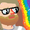 Colorful bearded man
