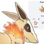 Pokemon Fusion of Ponyta & Eevee (Ponyvee) by PancakeSamurai