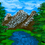 Happy Mountains (PIXEL ART) by WhateverArts02