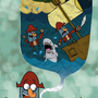 Flapjack and captain knuckles by STchilango