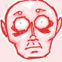 creepy red man by A-Shragai