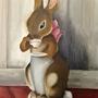 2/23/16 Beatrix Bunny Oil Painting by HannahOnyx