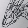 Cyber Dragon Concept Lifework by ScrawlRico