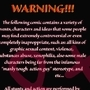 My Boyfriend's from Alpha Centauri - Warning by LoonyFred