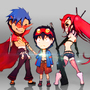 ThrGurren Lagann: Threee of a Kind by vincy223