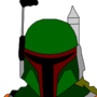 Boba Fett. (Not shaded.) by TomHIT