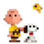Day #81 - Charlie Brown, Snoopy and Woodstock by JinnDEvil