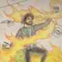 Possessed teacher summoning a demon by DominikKukovec04