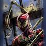 Iron suit Spider-Man, construction site