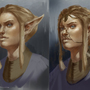 Elf portrait process by SimonT