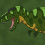 Tyrannosaurus rex by BrandonP