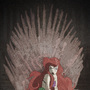 Ariel on the Iron Throne by KlobMeister