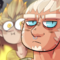 Maskless Roadhog and his Junkrat fanboy