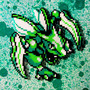Pokemon's Scyther Made Out of Perler Beads by Glugglor