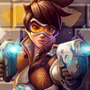 """Tracer"" Overwatch Painting with VIdeo (Fan Art) by rainwalker007"