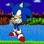 Sonic Redraw by TheZeroOmega