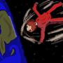 Boy falling to earth by AxeyDraws