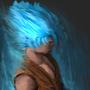 Goku Blue by MortenBruno