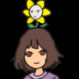 Frisk and Flowey by Deadpig8