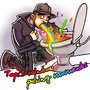 Me puking a rainbow by themurphler