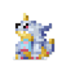 Day #124 - Gabumon by JinnDEvil