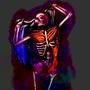 meat skeleton-raising cloth
