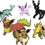 Eevee and his eevolutions by CarryOn