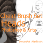 Krita|Photoshop| Heads | Cheat Brushes by MartsArt