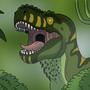 Yawning Rex by BrandonP