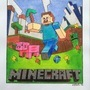 MineCraft poster for a friend's son by Merridrake