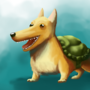 Corgi in a Shell by Tolinator