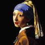 "ReCreation of ""The Girl with a Pearl Earring"" by BeKoe"