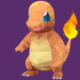Charmander Poly Art by PikachuHat