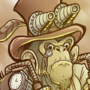 Steampunk Monkey w/Speedpainting by CrockerComics