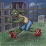 Runnin' Zombie by AwesomeSaurus