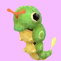 Caterpie Poly Art by PikachuHat