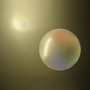 bubble in front of a light by spottysneeky