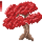 Maple Bonsai Tree - Pixel Art