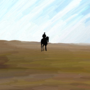 Man on a Horse by asx1313