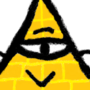 Bill Cipher-ish guy by Ni9ht